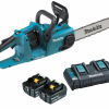 Makita Battery Chainsaw 2 x 18 Volt MODEL: DUC353PT2 – Complete Kit